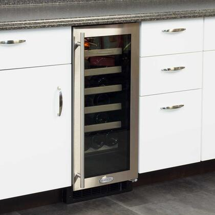 Marvel Ml15wsg0rs 14 875 Inch Built In Wine Cooler In