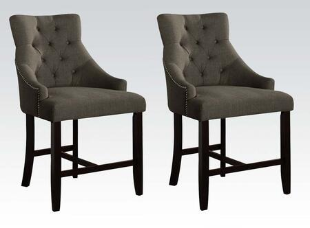 Acme Furniture Drogo Collection Set Of 2 25 Counter Height Chairs