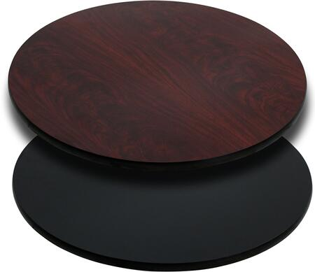 """Flash Furniture XU-RD-36-XX-GG 36"""" Round Table Top with Reversible Laminate Top, 1.125"""" Thick Top, High Impact Melamine Core, and Black T-Mold Protective Edging"""