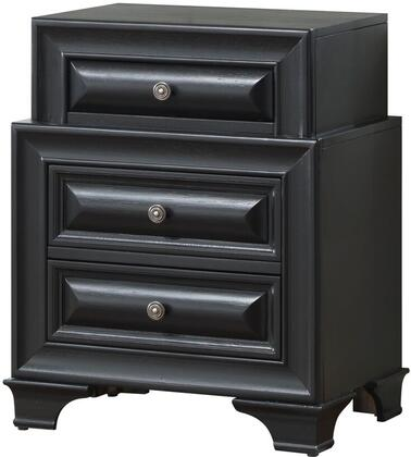 "Glory Furniture G8800 Collection 24"" Nightstand with 3 Dovetailed Drawers, Solid Wood and Veneer Surfaces in"