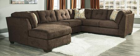 Benchcraft 1970X-38-34-16 Delta City Sectional with Sofa on the Right, Armless Loveseat and Left Arm Facing Corner Chaise in