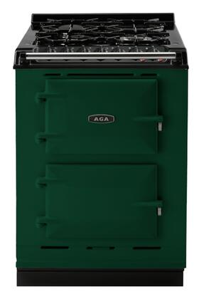 "AGA ACMPNGSTBRG 24"" Companion Series Dual Fuel Freestanding Range with Sealed Burner Cooktop, 1.5 cu. ft. Primary Oven Capacity, in Green"