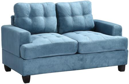 Glory Furniture G518AL Suede Stationary Loveseat