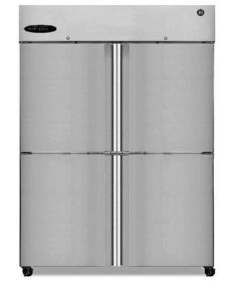 """Hoshizaki Commercial Series CR2B-XX 55"""" 51 cu. ft. Refrigerator, Reach-in, Two-Section, Digital Controller, LED Display, Ducted Air Display System, and Energy Star Qualified in Stainless Steel"""