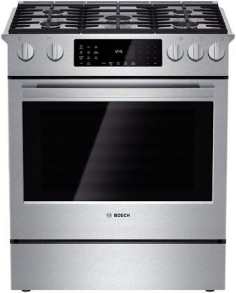 "Bosch HGEDI8054U 30"" Slide-In Range With Sealed Burner Cooktop, 4.6 cu. ft. Primary Oven Capacity, 18000 BTU, Convection, Self-Cleaning Mode"