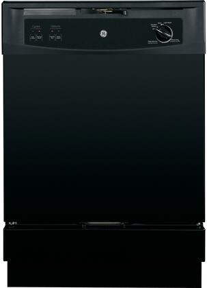 GE GSC3500VBB 3500 Series Portable Full Console Dishwasher, in Black