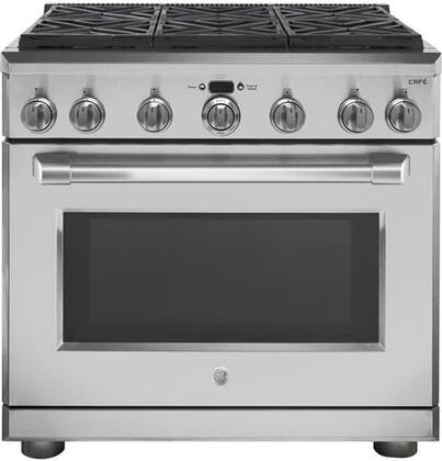 Ge cafe cgy366selss 36 inch gas freestanding range with sealed ge cafe main image fandeluxe Choice Image