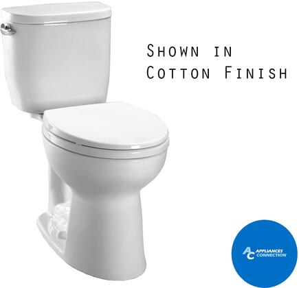 Toto CST244EF Entrada Series Two-Piece Elongated Toilet with Vitreous China Construction, E-Max Flushing System, and Left Chrome Trip Lever