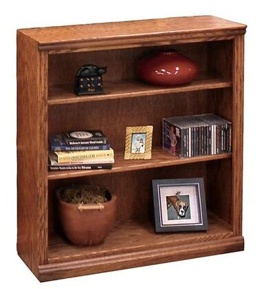 Legends Furniture TT6636GDOTraditional Series Wood 3 Shelves Bookcase
