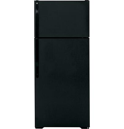 GE GTS18ABDBB Freestanding Top Freezer Refrigerator with 18.1 cu. ft. Total Capacity 2 Wire Shelves 4.22 cu. ft. Freezer Capacity