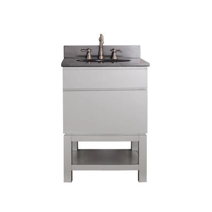 Avanity TRIBECA-VSB Tribeca Freestanding Vanity with Top, Sink, Faucet Hole, 1 Soft Closed Drawer, Base, Poplar Wood and Plywood, in Chilled Grey