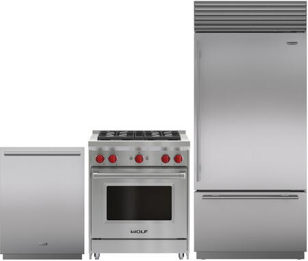 Sub Zero 1018137 3 Piece Kitchen Appliances Package
