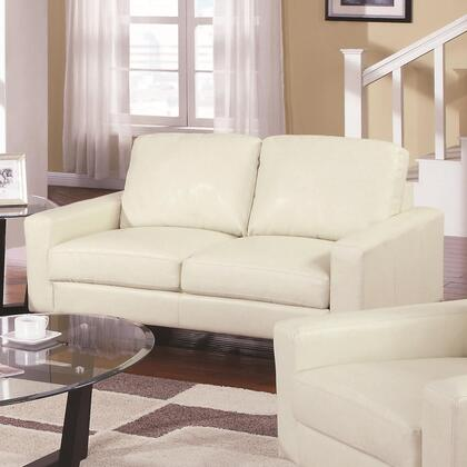Coaster 504302 Sawyer Series Bonded Leather Stationary with Wood Frame Loveseat