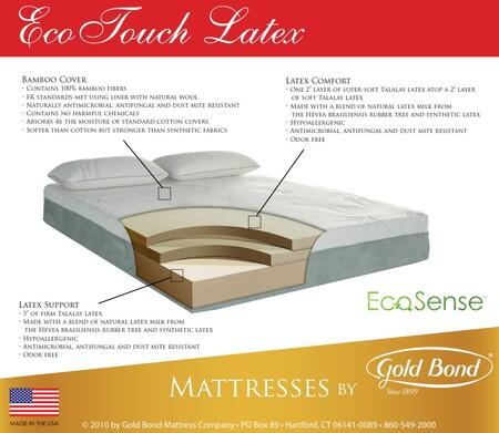 "Gold Bond 930 EcoTouch EcoSense Latex Collection 9.5"" High X Size Bamboo Mattress"