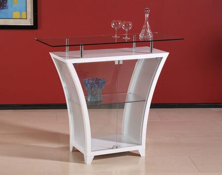 "Chintaly FLAIRBARWHT Flair Series 51"" Home Bar,"