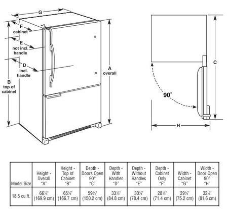 Maytag MBF1953YEW Bottom Freezer Refrigerator |Appliances Connection