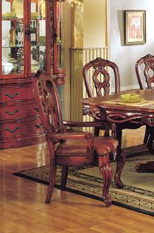 Acme Furniture 06073 Toulouse Series Transitional Leather Wood Frame Dining Room Chair