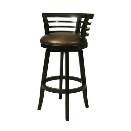 Pastel Furniture QLOR2253 Ortona 26 in. Counter Height Swivel Barstool