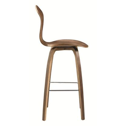"Fine Mod Imports FMI9254X 25"" Wooden Bar Chair In Walnut Finish"