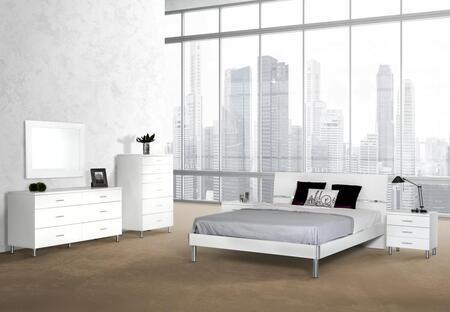 VIG Furniture VGDEB1002WHTFDMCN Modrest Bravo Full Bedroom S