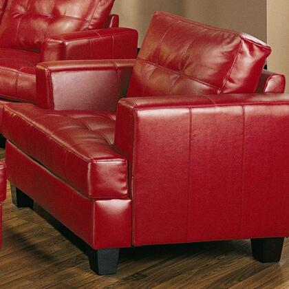 Coaster 501833 Samuel Series Bonded Leather Armchair with Wood Frame in Red