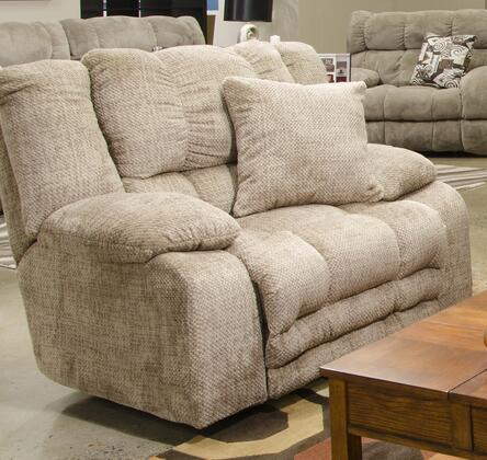 """Catnapper Branson Collection 2000-7- 53"""" Lay Flat Recliner with Extended Ottoman, Storage, Pillow Top Arms and Polyester Fabric Upholstery in"""