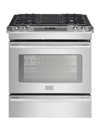 "Frigidaire FPDS3085KF 30"" Professional Series Slide-in Dual Fuel Range with Sealed Burner Cooktop, 4.2 cu. ft. Primary Oven Capacity, Warming in Stainless Steel"