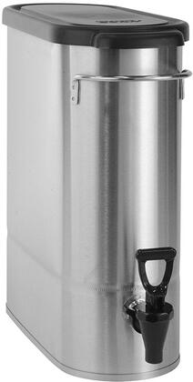 Bunn-O-Matic 39600006 Oval Style Narrow Low Profile Iced Tea and Coffee Dispenser with Lid, Front - Back Handles, Full-Color Iced Tea Decal and Sump Dispense Valve