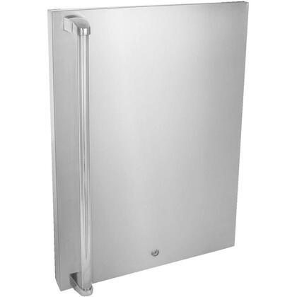 Blaze BLZ-SSFP Stainless Front Door Upgrade for 4.5 cu. ft. Refrigerator: X Hinge