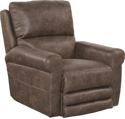 """Catnapper Maddie Collection 38"""" Recliner with Contrast Stitching, Greek Key Arm Styling, Comfort Coil Seating and Printed Padded Polyester Faux Leather Fabric Upholstery"""