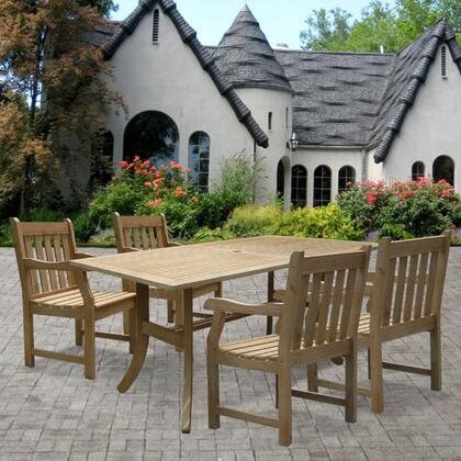 Vifah V1300SET4 Traditional Rectangular Shape Patio Sets