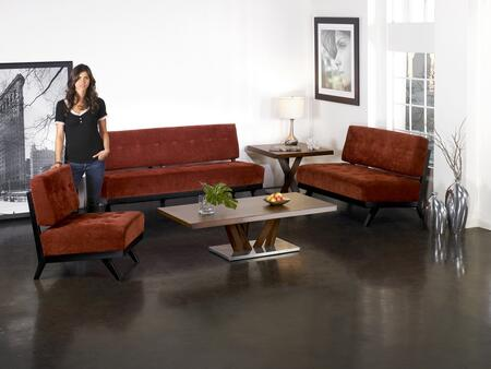 Armen Living LC10332BP Trace Series  with Fabric Frame Loveseat