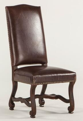 Home Trends & Design ZWEI63LBD Emilia Series Casual Leather Wood Frame Dining Room Chair