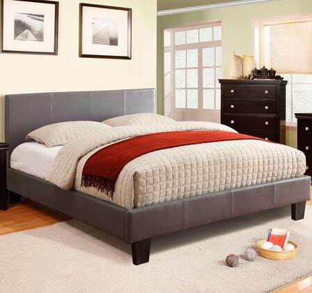 Furniture of America CM7008GYCKBED Winn Park Series  California King Size Bed