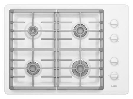 Maytag MGC7430WW  Gas Sealed Burner Style Cooktop, in White