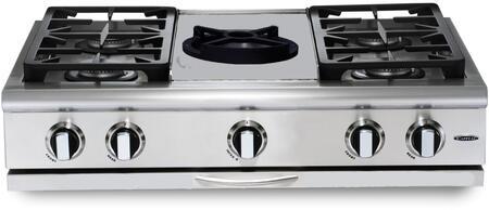 "Capital GRT364WL 36"" PRECISION Series Liquid Propane Sealed Burner Style Cooktop"