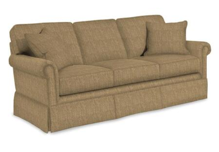 "Broyhill Audrey 3762-2/COLOR 73"" Wide Apartment Sofa with Two Pillows, Skirt Bottom and DuraCoil Seat Cushions in"