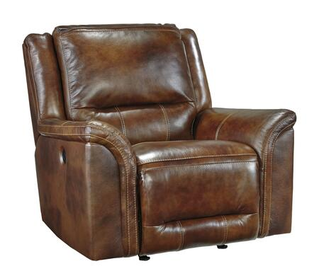 Milo Italia Kristen Collection MI-3680-REC-BRN Rocker Recliner with Padded Arms, Thick Bustle Back Cushion and Metal Drop-In Unitized Seat Box in Harness