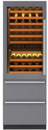 "Sub-Zero 427RXX-XX 27"" Integrated Wine Storage with Refrigerator Drawers, 78 Bottle Capacity, UV-Resistant Glass Door, Dual Evaporators, and Dual Independent Temperature Zones"