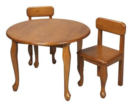 Gift Mark 3000 X  Solid Wood Queen Anne Round Table and Chair Set in