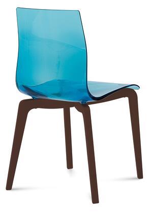 Domitalia GELSLSFCHSSAZ Gel Series Transitional Wood Frame Dining Room Chair