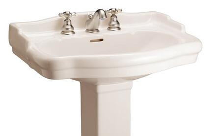 "Barclay B/3-85 Stanford 600 Basin Only, with Pre-drilled Faucet Holes, Overflow, 6"" Basin Depth, and Vitreous China Construction"