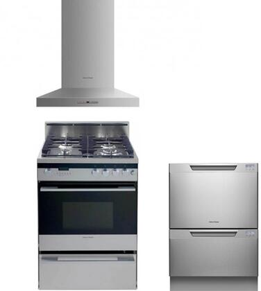 Fisher Paykel FP3PC24DFWMSSKIT7 Kitchen Appliance Packages
