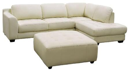 Diamond Sofa ZENRF2PCSECTOTTOE Zen Series Stationary Leather Sofa