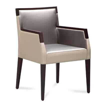Domitalia ARIELP0IDWE011W Ariel Series Contemporary Fabric Wood Frame Dining Room Chair
