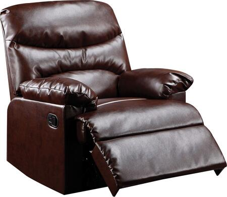 Acme Furniture 59016 Arcadia Series Contemporary Bonded Leather Wood Frame  Recliners