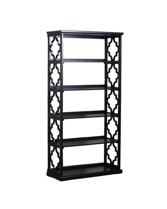 """Powell Turner Collection 14A8082BC 72"""" Bookcase with Quatrefoil Design, Five Shelves and Open Back in"""
