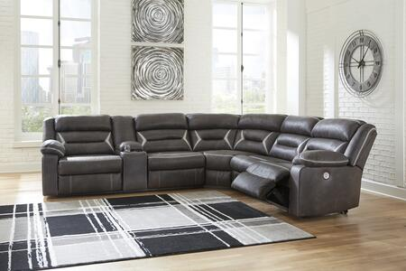 Signature Design By Ashley Kincord Faux Leather Sectional