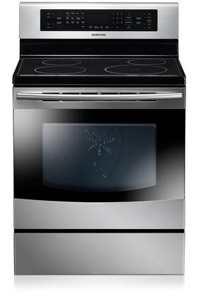"Samsung Appliance NE595N0PBSR 30"" Electric Freestanding Range with Smoothtop Cooktop, 5.9 cu. ft. Primary Oven Capacity, Storage in Stainless Steel"
