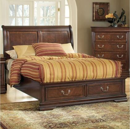 Acme Furniture 19444 Hennessy Brown Cherry Bed with Storage Function
